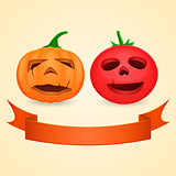 Halloween Pumpkin and Tomato