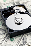 hard disk on american dollars