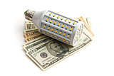 LED lightbulb with us dollars