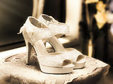 Stylish and elegant bridal shoes