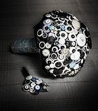 Modern button design wedding bouquet
