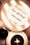 Thank you wedding buttons. Low DOF Macro