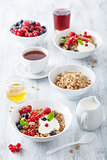 healthy breakfast with yogurt and granola