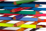 construction of colored pencils