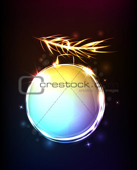 Background with shining ball