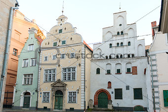 Three Brothers houses in old town