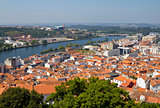Coimbra city and river Mondego