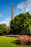 Eiffel Tower and Champs de Mars, Paris, France