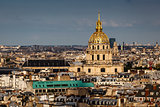 Aerial View on Les Invalides from the Eiffel Tower, Paris, Franc