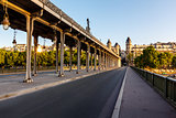 Bir-Hakeim Bridge in the Morning, Paris, France