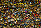 Love Padlocks at Pont des Arts in Paris, France