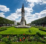 Notre Dame de Paris Garden on Cite Island, Paris, France