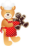 Cook Teddy Bear Christmas Cookies Man