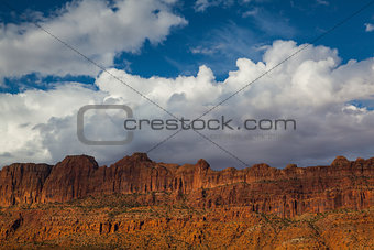 Beautiful rock formations  near the Arches National Park