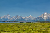 Teton mountains in Wyoming, USA.