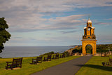 Holbeck Clock Tower on the coast in Scarborough
