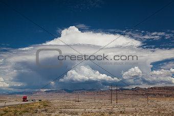 On the road in desert in Utah