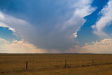 Dangerous storm on the prairie in Wyoming