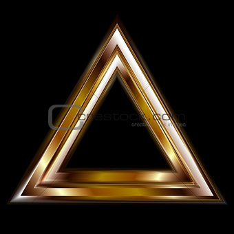 Abstract vector triangle shape