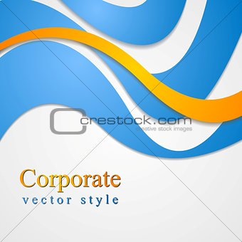 Bright corporate card design