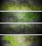 Green textural backgrounds set