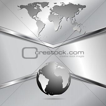 Modern metallic technology vector design