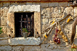 Traditional dalmatian stone house window