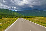 Scenic road in region of Lika