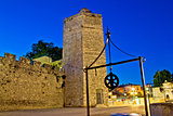 Zadar stone tower night view