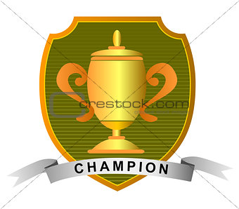 Championship Cup with Champion