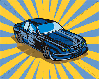Ford GT Car Retro