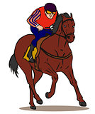 Horse and Jockey Retro