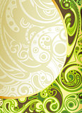 Abstract Green Curve Background