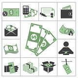 Money. Green set