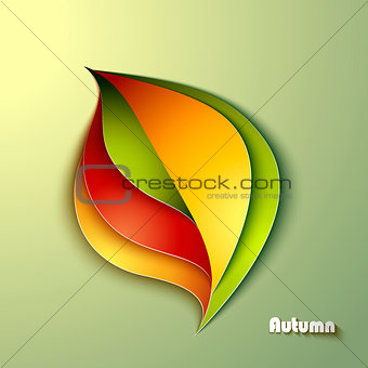 Abstract autumn background with leaf