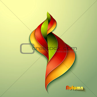 Abstract autumn background with leaves