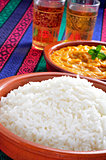 basmati rice and korma curry