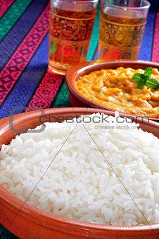 basmati rice and korma curry
