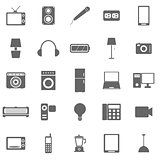 Electrical Machine icons on white background