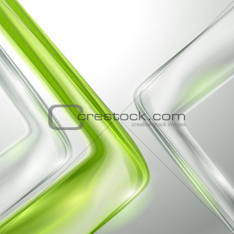Abstract gray background with green elements