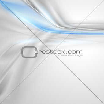 Grey soft abstract background with blue element