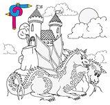 Coloring image castle