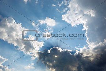 Cloudscape with sun