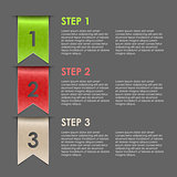 Bookmarks progress steps for tutorial