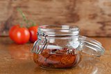 Dried tomatoes in a jar