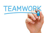 Teamwork Blue Marker