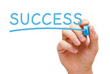 Success Blue Marker