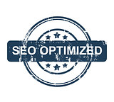 Blue SEO Optimized stamp with stars