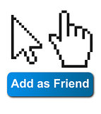 Cursor hands and social media button