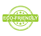 Eco Friendly green stamp with stars